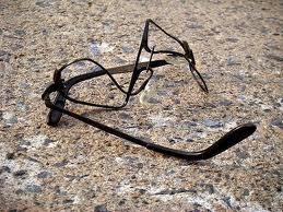 Eyeglasses broken